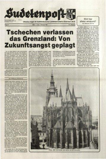 Tschechen verlassen das Grenzland: Von ... - Sudetenpost