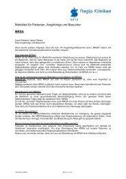 Patienteninformation MRSA - Klinikum Pinneberg