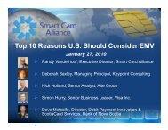 Download web seminar presentation - Smart Card Alliance