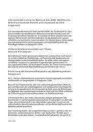 Internationales Institut für Wald und Holz NRW ... - Wald-Zentrum