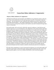 Roles, Indicators and Competencies Introduction