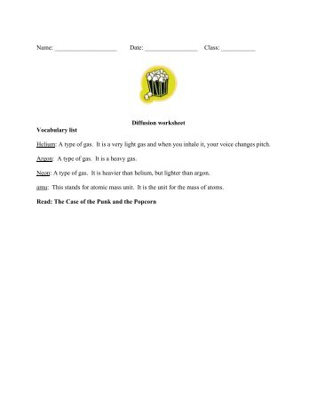 Types Of Solids Worksheet