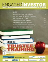 Guide to Trustee Training - Engaged Investor