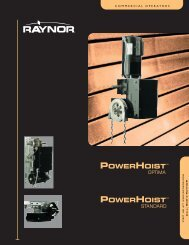 PowerHoist - Raynor Garage Doors