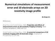 Numerical simulations of measurement error and 10 electrode ...