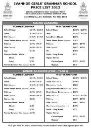 Ivanhoe 2012 Price List.pub - Bob Stewart Pty Ltd