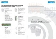 The technology used in the radio-controlled temperature-control ...