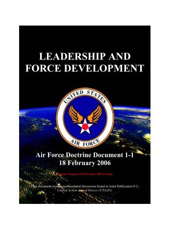 Leadership and Force Development - 162nd Fighter Wing, Arizona ...