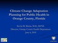 Climate Change Adaptation Planning for Public Health in Orange ...