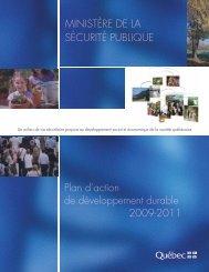 Plan d'action de développement durable 2009-2011