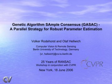 Genetic Algorithm SAmple Consensus (GASAC) - A ... - Rodehorst.info