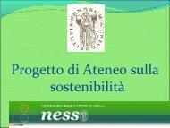 Presentazione NeSSo - Unisi.it - Università degli Studi di Siena