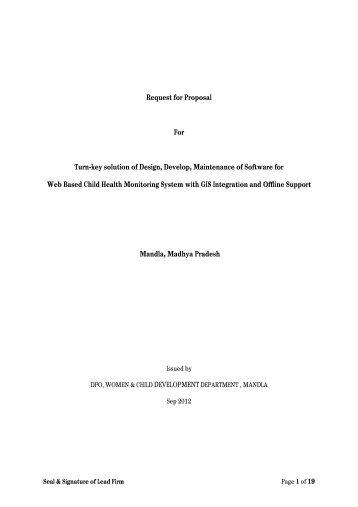 Request for Proposal For Turn-key solution of Design ... - Mandla