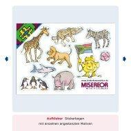 Aufkleber Stickerbogen mit einzelnen angestanzten Motiven