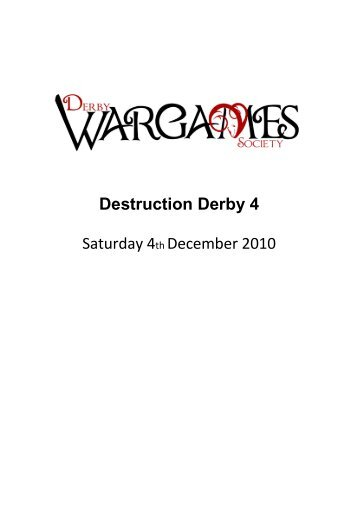 Destruction Derby 4 Saturday 4th December 2010