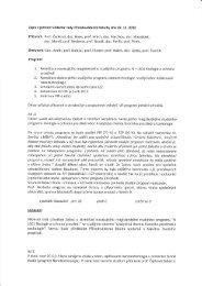 Zápis z jednání Vědecké rady Přírodovědecké fakulty dne 22. 11. 2012