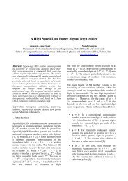 A High Speed Low Power Signed Digit Adder - Shahid Beheshti ...