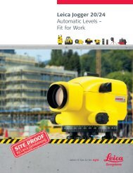 Leica Jogger 20/24 Automatic Levels – Fit for Work