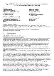 Zápis č. 02 z jednání Výboru ČRS SÚS Praha ze dne 28.02. 2013