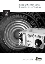 Leica GRX1200+ Series Especificaciones Técnicas