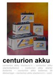 centurion akku starter batteries – centurion akku batteries