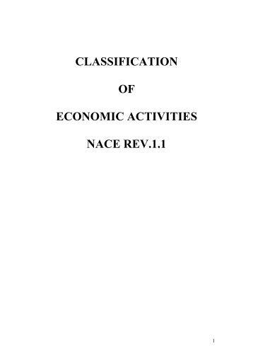 classification of economic activities nace rev.1.1 - INSTAT