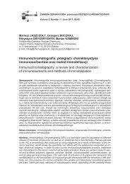 Immunochromatografia: przegląd i charakterystyka ...
