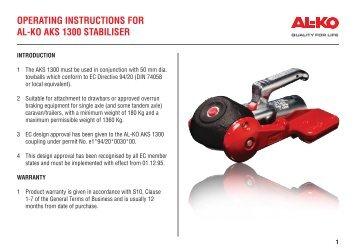 alko 1300 stabiliser fitting instructions