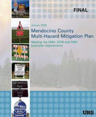 Mendocino (PDF) - Hazard Mitigation Web Portal - State of California