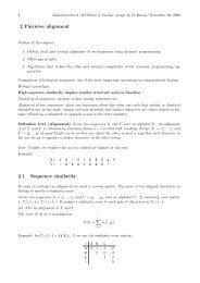 2. Pairwise Alignment - Algorithms in Bioinformatics