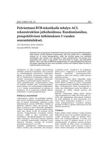 Polviortoosi BTB-tekniikalla tehdyn ACL rekonstruktion ...