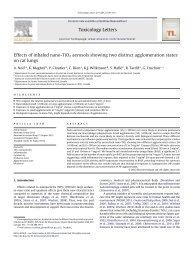 Effects of inhaled nano-TiO2 aerosols showing two distinct ...