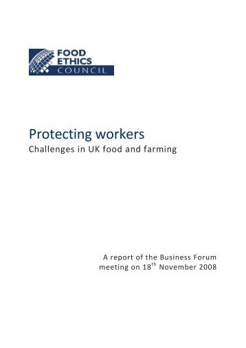 Protecting workers - Food Ethics Council