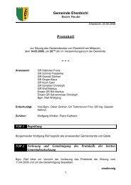 Gemeinderatssitzung vom 14.05.2008 (87 KB) - .PDF - Ehenbichl
