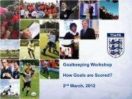 Goalkeeping Workshop