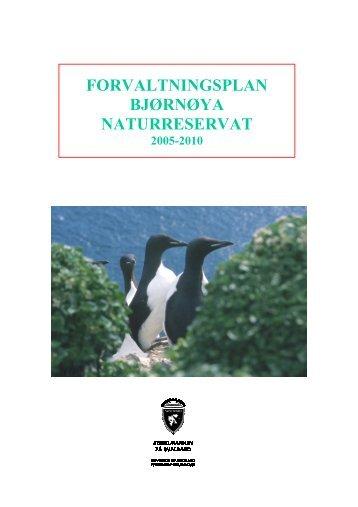 Bjørnøya NR forvaltningsplan - Sysselmannen