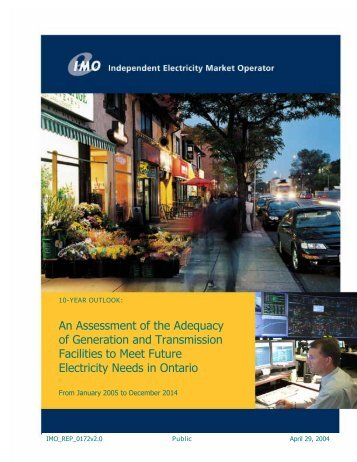 10-Year Outlook - Independent Electricity System Operator