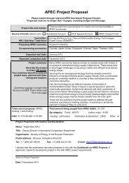 APEC Project Proposal - ESCI KSP