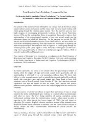 From Report to Court: Psychology, Trauma and the Law - ukpts