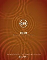 Qualcomm Social Responsibility Report