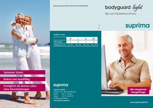 Flyer bodyguard light - Suprima GmbH