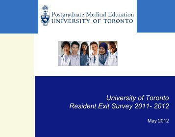 Resident Exit Survey 2011-2012 - Post Graduate Medical Education ...