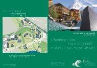 L'homme et son environnement : - Université de Lausanne
