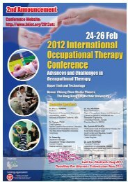 2nd Announcement - World Federation of Occupational Therapists