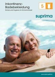 Inkontinenz - Badebekleidung - Suprima GmbH