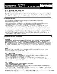 S-760 SCSI Transfers (PDF) - Roland Corporation Australia