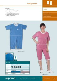Care garments - Suprima GmbH