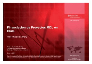 Financiación de Proyectos MDL en Chile - Tech4CDM