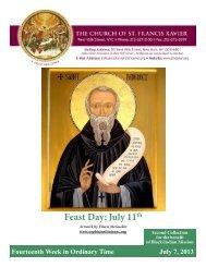 July 7, 2013 - Church of St. Francis Xavier