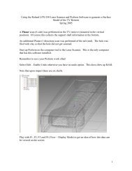 Producing a Surface Model from Laser Scanned data using Roland ...